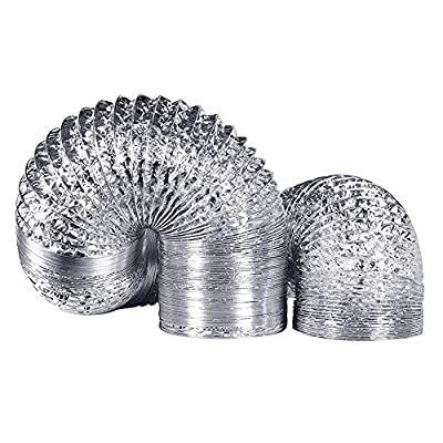 Ducting Air Non-Insulated Dryer Aluminum Foil for HVAC Ventilation Air Conditioning Vent Hose Pipe