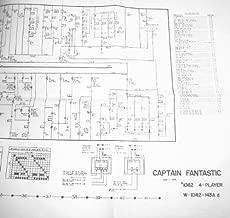 Captain Fantastic Pinball Full Size Manual Schematic 5' x 2'