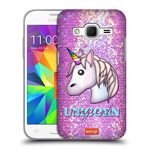 Head Case Designs Ufficiale Emoji Magical Unicorn Scintille E Pastelli Cover Dura per Parte Posteriore Compatibile con Samsung Galaxy Core Prime