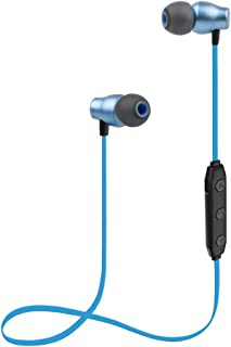 Proshine Bluetooth Headphones Wireless Earbuds Sweatproof Earphones Magnetic Attraction Stereo Earphones for Running Workout Gym Noise Cancelling Blue