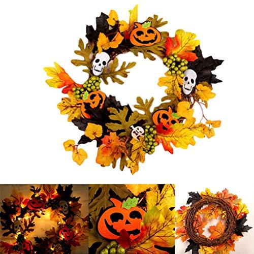 NL Halloween Decor String LED Lights, for Door Hangers Foam Pendant for Children Party for Outdoor, Yard, Garden (Color : B)