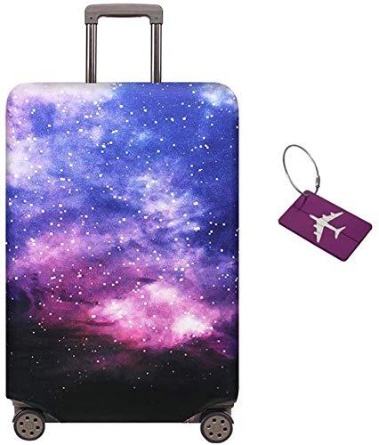 Limirror Koffer-Abdeckungen Kofferhülle, Koffer Hülle - Elastische Kofferschutzhülle mit Reißverschluss - Reisekoffer Überzug Case (Sternenhimmel 2020, L/25-28)