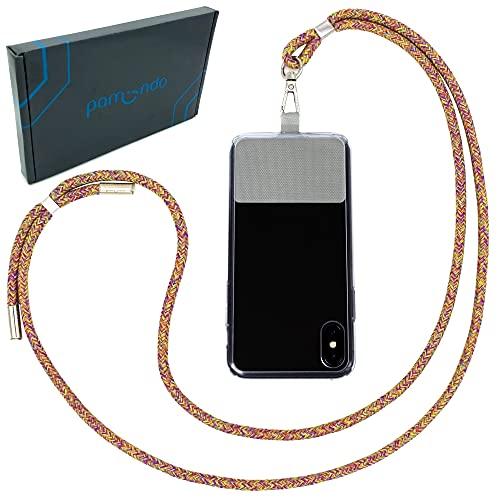 Handykette universal zum Umhängen von Smartphones - Halsband als Umhängetasche für Handys wie iPhone, Samsung, Huawei UVM. (Rainbow)