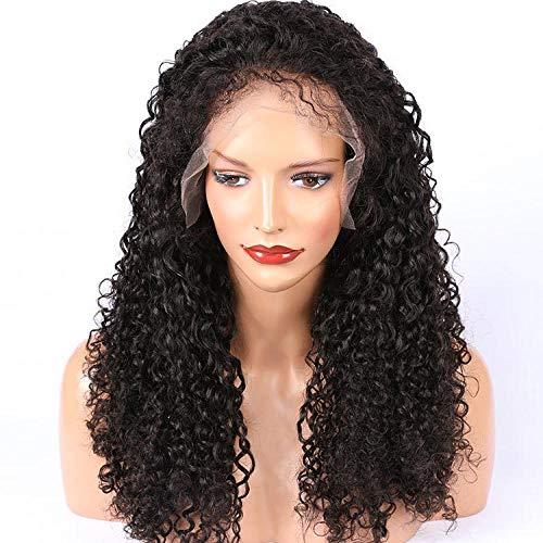 Afrikaanse natuurlijke kleine zwarte haren, 18 inch, echt haar, front lace pruik, charmante vrouwelijke pruik voor dagelijkse kleding