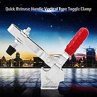 赤い滑り止めハンドル垂直タイプ500lbs / 227Kgトグルクランプクイックリリース溶接加工用亜鉛メッキ金属加工工具