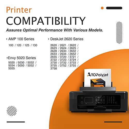 ATOPolyjet Remanufactured for HP 304 XL 304XL Cartucho de Tinta 1 Pack para Envy 5020 5030 5032 5050 5055 Deskjet 2630 2620 3720 3730 3733 2622 2634 2652 AMP 100 130 120 125 (1 Tri-Color)