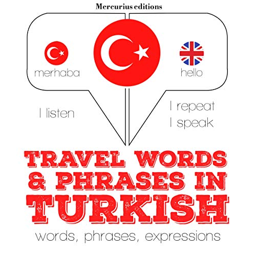 Travel words and phrases in Turkish audiobook cover art