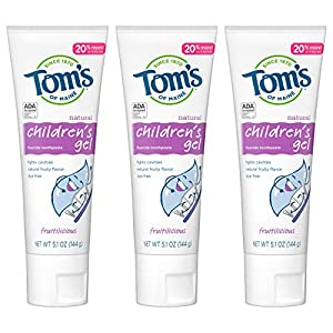 WHAT YOU'LL GET: Contains three - 5.1 ounce tubes of Tom's of Maine kids natural toothpaste with fluoride in Fruiticious flavor. RECYCLABLE TUBE: Our all natural kids toothpaste now comes in a recyclable tube. Once empty, replace cap and recycle with...