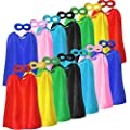 Superhero Capes and Masks for Kids Birthday Party - DIY Dress Up Superhero Costume for VBS - 14 Sets Pack