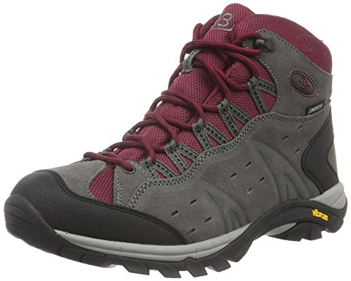 Bruetting MOUNT BONA HIGH, Damen Trekking- & Wanderstiefel, Grau (GRAU/BORDEAUX), 42 EU (9 Damen UK)