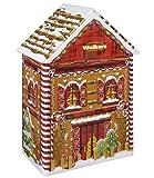 Galletas de mantequilla de la casa del metal de la Navidad de Walkers | Galletas de lata de regalo de Navidad | Masa quebrada de pan de jengibre Omini - 1 x 200 gramos