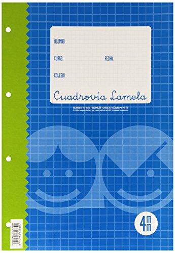 Lamela 09004 - Recambio lamela de papel folio cuadriculado 4 x 4 ✅