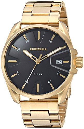 Diesel Herren Analog Quarz Uhr mit Edelstahl Armband DZ1865