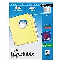 Avery ( R ) Worksaver ( R )強化Insertableビッグタブディバイダー、銅、8-tab、Buff用紙、クリア