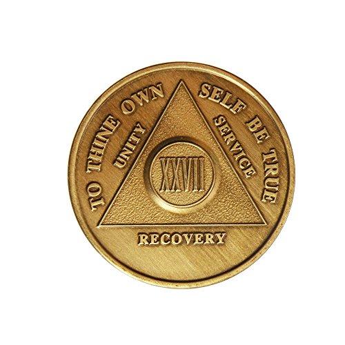 Generic Bronzefarbene AA-Alkoholiker (anonyme Alkoholiker) – Nüchternheit / Nüchternheit / Geburtstag / Jahrestag / Erholung / Medaillon / Münze / Chip von Generic