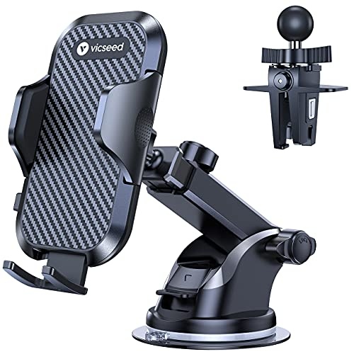 VICSEED Universal Car Phone Mount Car Phone Holder for Car Dashboard Windshield...