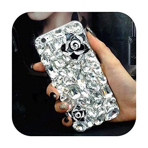 happy-Boutique - Cover rigida per iPhone 11, con strass, con strass, 3D, per Samsung Galaxy S5, 6, 7 Edge, 2 Plus, Galaxy S8