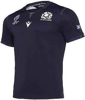 [GWNJSSG] 2019 Rugby World Cupはスコットランドのジャージファンに適しています速乾性の半袖スポーツウェアフィットネスの代わりにシャツトレーニングをサポートします