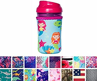Koverz for Kids - #1 Neoprene Baby Bottle/Sippy Cup Insulator Cooler Coolie - Choose from 30+ Styles! - Mermaids