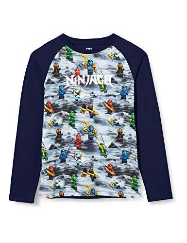 LEGO Jungen Mwa-Langarmshirt Ninjago T-Shirt, 590 Dark Navy, 122