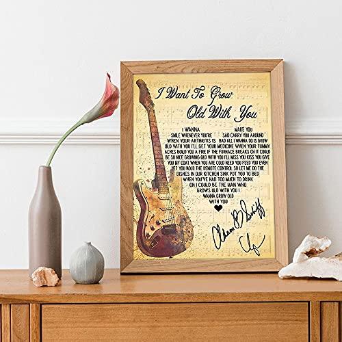 Adam Sandler Grow Old With Me Lyrics, poster per canzoni, The Wedding Singer Music Album Poster, Vintage Adam Sandler Music Poster Fan Regalo