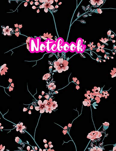 Notebook: Cute Blank Lined Journal Large 8.5 x 11 Matte Cover Design with Ruled White Paper Interior (Perfect for School Notes, Girls and Boys Diary, ... Subject, Office Use) - Product Code N7 779