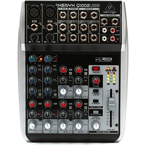 XENYX Q1002USB Mixer Analogico con 10 Ingressi (2 mic + 4 stereo) con compressore, eq, USB, per Home Studio, Live, Karaoke, ecc.