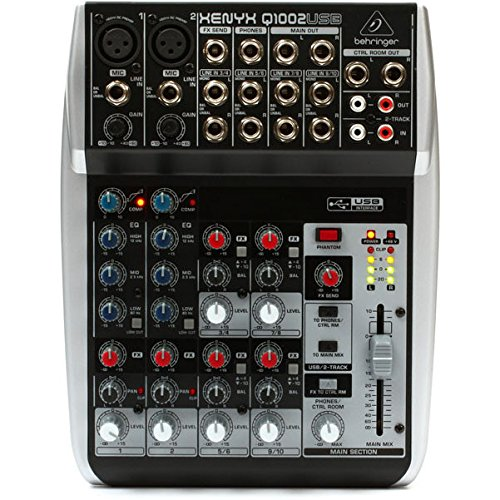Behringer XENYX q1002usb–DJ-Mixer (106dB, 13W, 19,5cm, 24,8cm, 5cm)