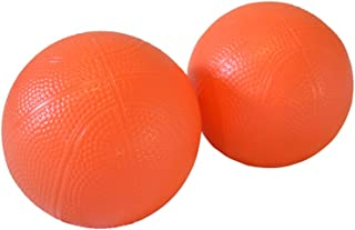 "Four Brothers Replacement 6"" Orange Indoor and Outdoor PVC Basketball for Little Tikes Easy Score(2 Pack)"