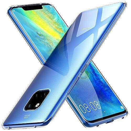 Peakally Funda Huawei Mate 20 Pro, Transparente Silicona Funda para Huawei Mate 20 Pro Carcasa Flexible Claro Ligero TPU Fundas [Antideslizante] [Resistente a arañazos] -Transparente