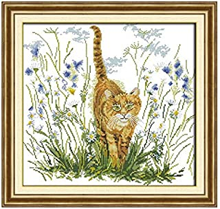 The Cat's Warning Animal Pattern Chinses Embroidery Cross Stitch Kits 11CT 14CT Count Printed Canvas DIY Home Deco
