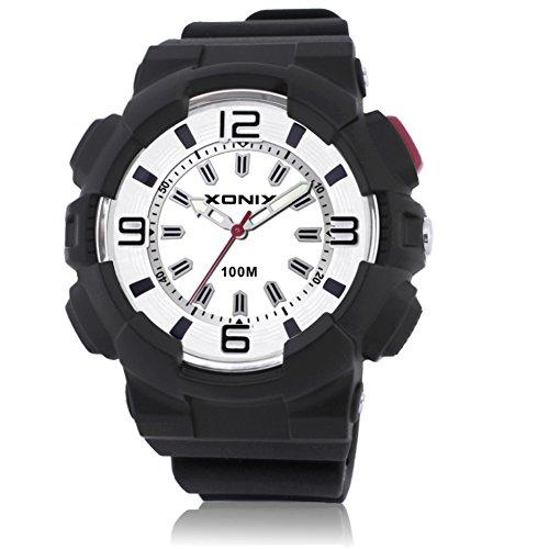 Hombres'S Reloj Luminoso Puntero Impermeable Cuarzo Relojes-D