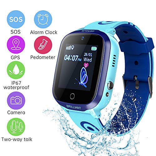 Kids Smart Watch Phone Game Smart Watches Wrist Watch for Boys Girls1.5 inch Touch Screen with Phone Calls Voice Chat Camera Album Record Alarm Clock Calculator Music Game Gifts for Children
