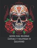 libros para colorear Mandala y calaveras de Halloween: Patrones de calaveras de azúcar antiestrés...