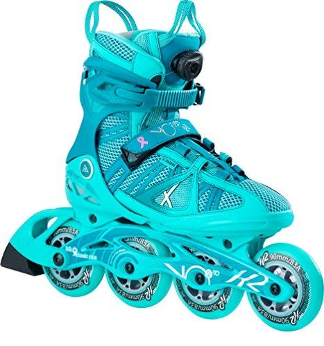 K2 Damen Inline Skates VO2 90 Boa W - Grün - EU: 36 (US: 6 - UK: 3.5) - 30B0119.1.1.060