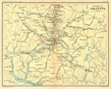 Calcutta/Kolkata Environs Hooghly Canning Diamond Harbour British India - 1931 - Old map - Antique map - Vintage map - Printed maps of India