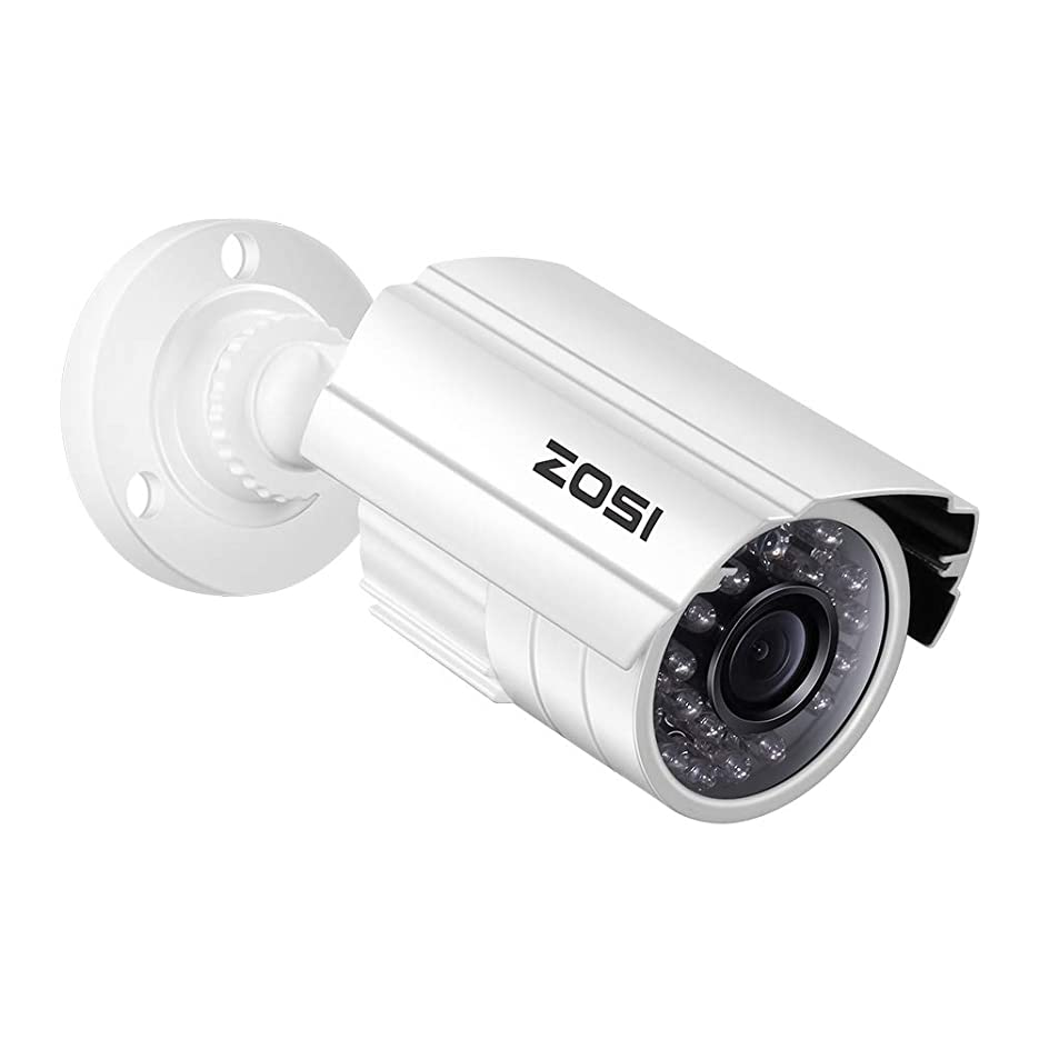 木カルシウム猟犬ZOSI 防犯カメラ監視カメラ フルハイビジョン アナログ/AHD/CVI/TVI録画機対応 4-IN-1カメラ OSD付き 赤外線搭載 防水防塵仕様 屋外屋内設置可