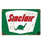 gas signs vintage - Sinclair Tin Metal Wall Decoration, Original Design Thick Tinplate Wall Art Sign for Man Cave/Garage
