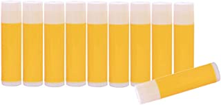 Perfeclan 5g Plastic Empty Lip Balm Containers Lipstick Tubes - 10 Pieces - Yellow