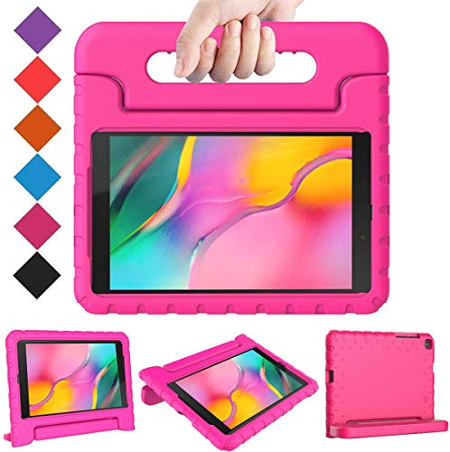 BMOUO Kids Case for Samsung Galaxy Tab A 8.0 2019 SM-T290/T295, Galaxy Tab A 8.0 Case 2019, Shockproof Light Weight Protective Handle Stand Case for Galaxy Tab A 8.0 2019 Without S Pen- Rose