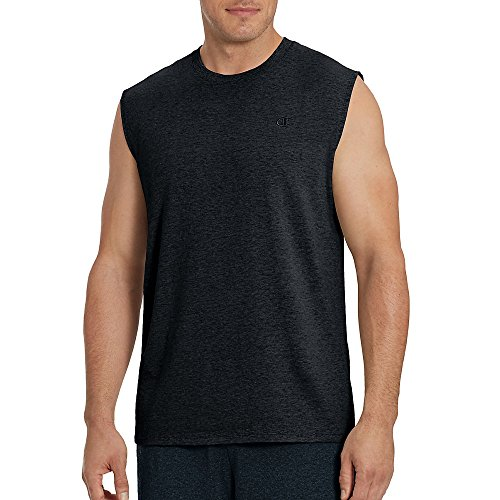 Champion Men's Classic Jersey Muscle Tee Shirt Granite Heather