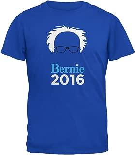 Election 2016 Bernie Sanders Hair Minimalist Royal Adult T-Shirt