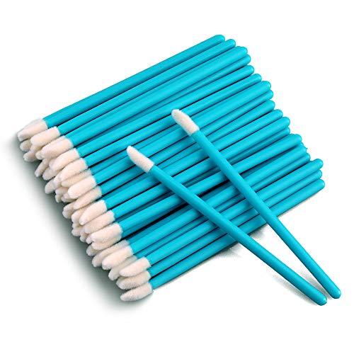 G2PLUS 100 Stück Einweg Lippenpinsel, Lippenstift Lip Gloss Pinsel Lippenapplikator, Blau