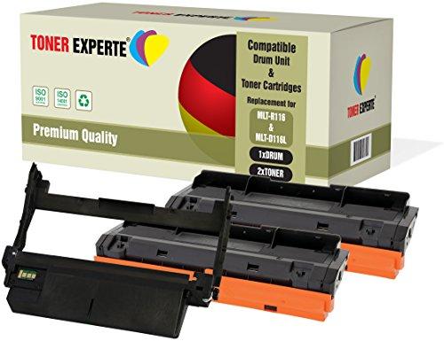 Pack de 3 TONER EXPERTE® Compatibles MLT-R116 MLT-D116L Tambor & 2 Cartuchos de Tóner para Samsung Xpress SL-M2625 M2625D M2675F M2675FN M2825DW M2825ND M2835 M2835DW M2875FD M2875FW M2875ND M2885FW