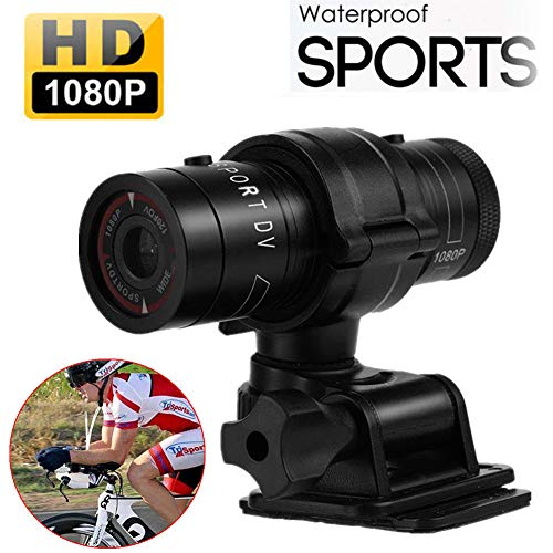 Hangang Mini Sport Kamera 1080P Full HD Action Wasserdicht Sport Helm Bike Helm Video Kamera DVR AVI Video Camcorder 32 GB TF Karte ideal für Klettern Reiten Skifahren