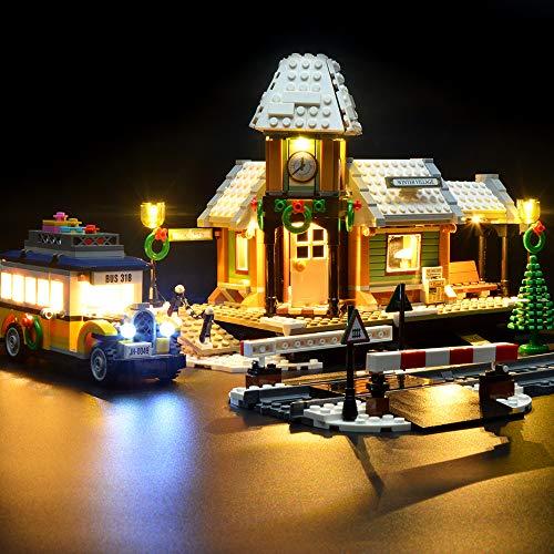 Kit De Iluminación LED para Luces De Estaciones De Tren En Invierno - Compatible con El Modelo Lego 10259 Building Blocks - No Incluye El Juego De Lego
