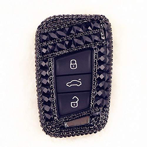 Prawing Cubierta de la Caja de la Llave del Coche Shell para Skoda Superb Magotan Passat B8 A7 Golf Smart Smart Cover Accesorios (Color Name : C Black)
