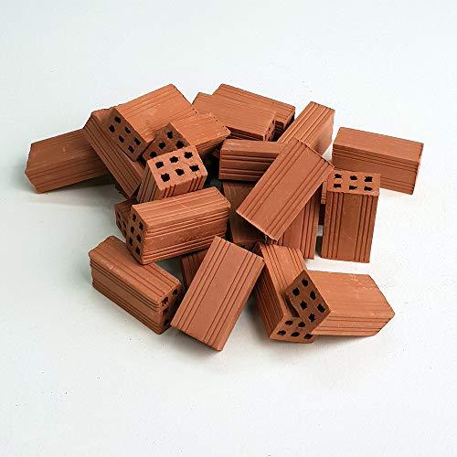 Ladrillos en Miniatura. Ladrillo hueco doble rojo 30 Mm. (50u.)