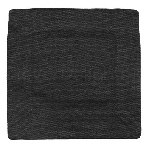 """CleverDelights 12 Pack Black Cocktail Napkins - 100% Cotton Canvas - 6"""" x 6"""" - Heavyweight Coasters"""