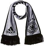 Adidas DFB H Sports Scarf, White/Black/LGH solid Grey, OSFM
